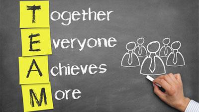 'Teamen': voeg aan team een werkwoord toe