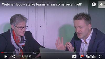 Webinar 'Bouw sterke teams, maar soms liever niet!'
